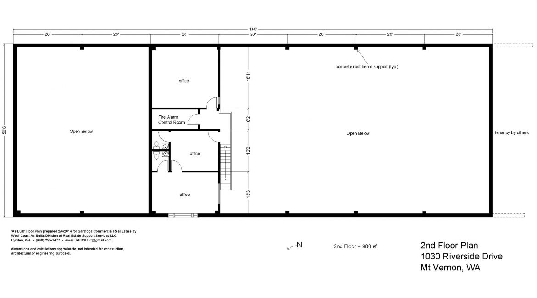 1030 Riverside Dr 2nd Floor Plan