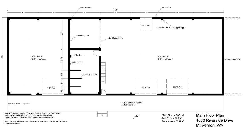 1030 Riverside Dr Main Floor Plan